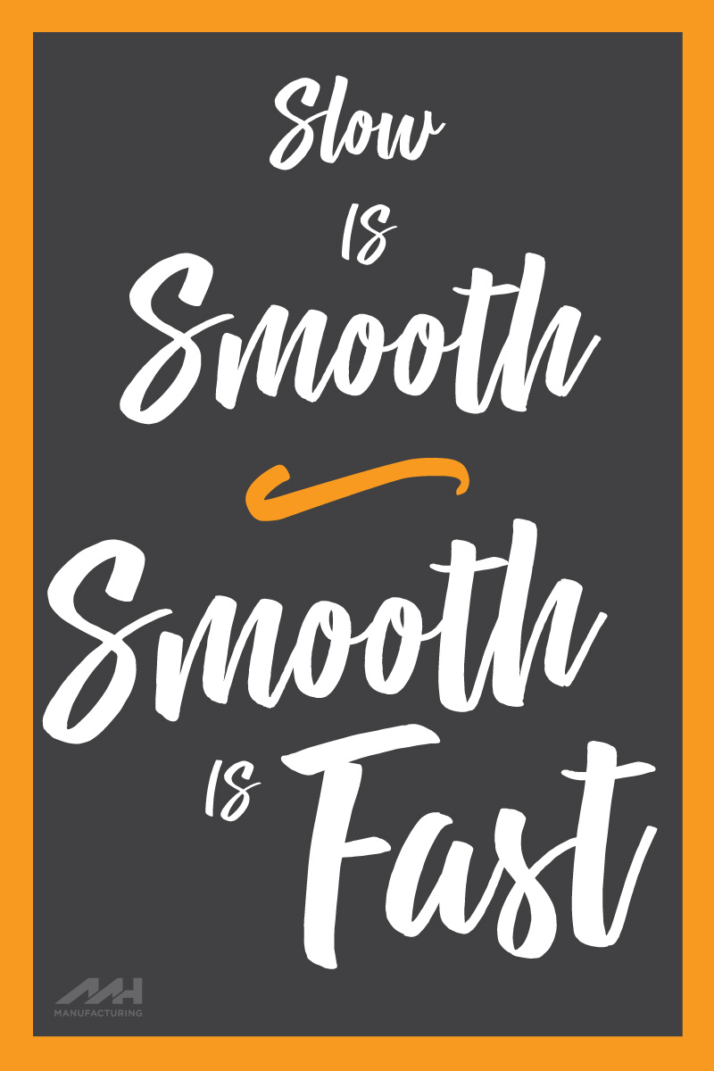 Slow is Smooth, Smooth is Fast Quote